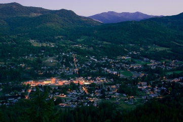 Fruitvale, nestled in the Selkirk Mountains, in a valley above the mighty river from which British Columbia gets its name.